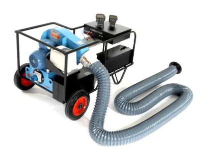 Dispositivo de alimentación de aire provisto de caudalímetro.